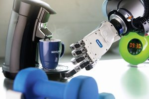 Anthropomorphe Roboterhand mit intelligenter Greiferregelung
